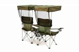 Double Canopy Folding Chair Heavy Duty Events Sports
