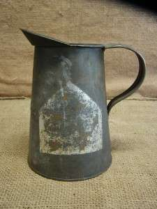 Vintage Oil Mixing Can  Antique Oiler Old Gas Auto Car