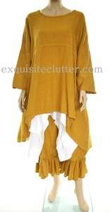 Completo Lino Lagenlook Linen Cross Back Tunic OSFA