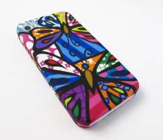 PICASSO CARTOON BUTTERFLY Hard Shell Case Cover Apple iPhone 4 4s