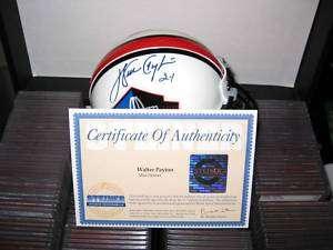WALTER PAYTON STEINER WPF autographed signed HOF helmet