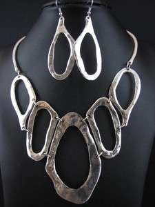Wedding Party Bridal Pendant Necklace Dangle Earrings Set MS2411