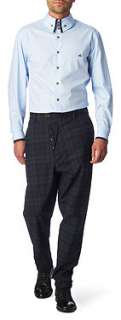 VIVIENNE WESTWOOD Contrast trim slim fit single cuff shirt