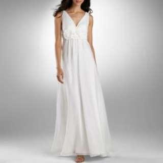Lilianna Rosette Waist Chiffon Wedding Gown customer