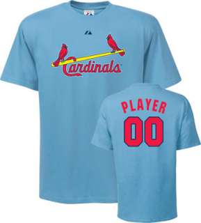 St. Louis Cardinals T Shirt Any Player Cooperstown Name and Number T