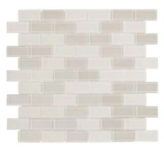 Prussian Empire 1 in. x 2 in. Brick 12 in. x 12 in. Glass Wall Tile (1