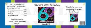 Birthday Any Age 30, 40, 50, 60 WATER BOTTLE LABELS