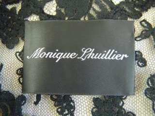 85 27 MONIQUE LHUILLIER Black Lace Cocktail Dress Sz 4