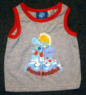 Blues Clues Beach Buddies Infant Kids Tank Shirt 12 Mos