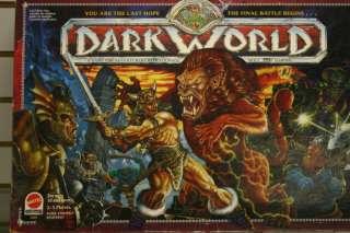 1992 DARK WORLD FANTASY BOARD GAME AGES 10+ 2 5 PLAYER