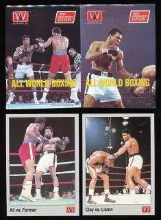 All World Boxing PROMOS Muhammad Ali George Foreman Clay Sonny Liston
