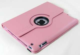 Apple iPad 2 Magnetic Smart Cover Leather Case Rotating Stand   Baby