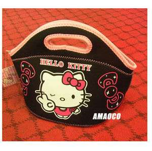 hellokitty kitty lunch hand black shopping kid Girl Bag