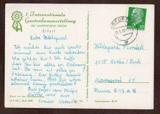 AK Erfurt Gartenbauausstellung 1966 gelaufen Rosen vor der