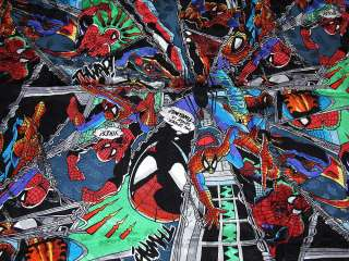 NEW NICOLE MILLER MARVEL COMICS SPIDERMAN HAND SEWN SILK 43X43 SCARF