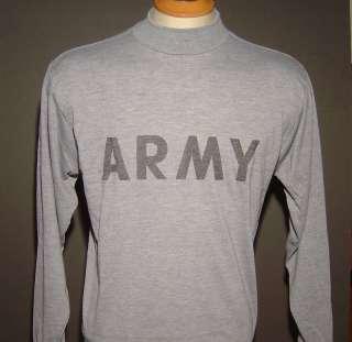 ARMY AUTHENTIC DARK GREY HEATHER T SHIRT   NEW