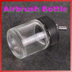 Airbrush Air Brush Glass Bole Jar w/ Sandard Sucion Lid Pump Spray