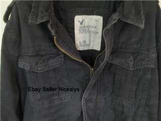 American Eagle~ Mens Black AE Military Twill Shirt Jacket S M L XL Nwt