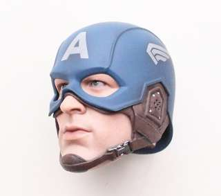 FIRST AVENGER CAPTAIN AMERICA CHRIS EVANS 1/6 HEAD MASK HELMET ONLY