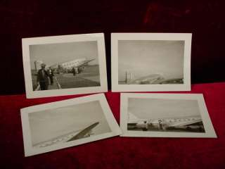 Vintage 1940s AMERICAN AIRLINES AIRPLANE PHOTOS Runway FLAGSHIP B&W