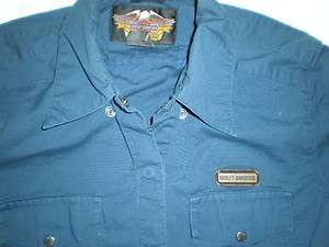 HARLEY DAVIDSON WMS SNAP FRONT SHORT SLEEVE SHIRT SMALL