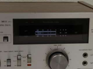 M11 MK2 Cassette Deck  TESTED WORKING  Dual VUs R/L Input Level/Dolby