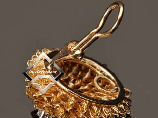 Hammerman Bros. Vintage Yellow Gold Brooch Earring Set