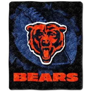 Chicago Bears NFL Sherpa Afghan Throw Blanket, NEW