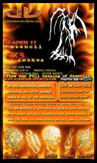 Grim Reaper 17 airbrush stencil harley paint