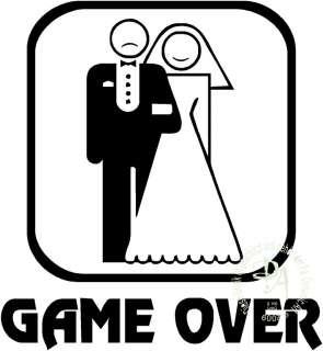 1x Game Over Hochzeit Auto Aufkleber Sticker Shocker