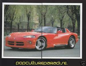 1992 CHRYSLER DODGE VIPER RT 10 Car 2 STICKER DECAL