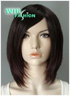 Short 12 in. Dark Brown Hair Wig NK08