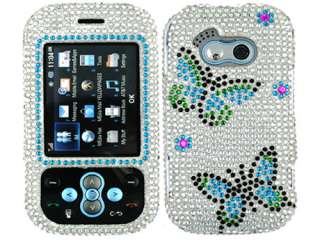 RHINESTONE BLING CRYSTAL FACEPLATE HARD CASE COVER LG NEON GT365 KS360