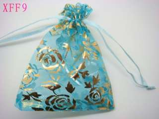 Rose Drawstring Organza wedding favor gift pouch bag 3.5x5 XFF