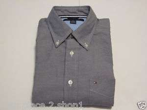 Tommy Hilfiger Mens Gray Button Front Casual Shirt