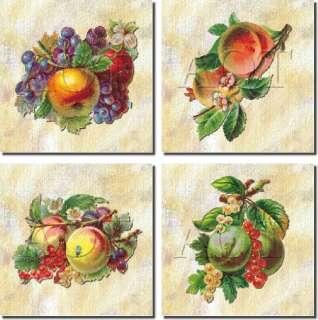 Kitchen Backsplash Vintage Fruit Art Ceramic Tile Set