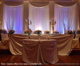 Wedding Backdrop Kit w/Pipe, Drape, Valence: 3 PANEL 7 12ft TALL