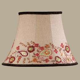 LAURA ASHLEY LIGHTING Floral Embroidered Lamp Shade