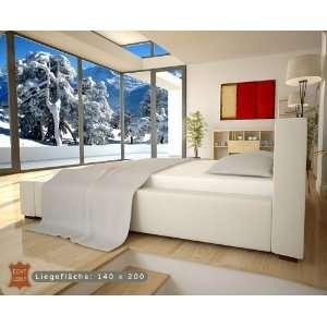 Luxus Echt Leder Bett / Polsterbett Matratzen Grösse 140x200
