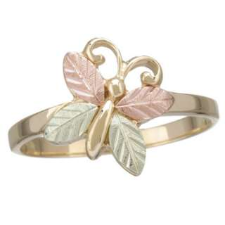 10K BLACK HILLS GOLD WOMENS BUTTERFLY RING