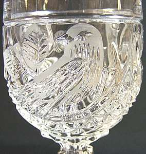 GORGEOUS VINTAGE HOFBAUER GERMAN LEAD CRYSTAL WINE GLASS SET!!!