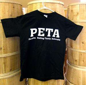PETA  People Eating Tasty Animals Tee Shirt   2 Sided