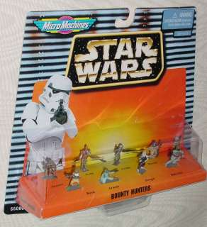 STAR WARS MICRO MACHINES BOUNTY HUNTERS BOBA FETT BOSSK IG 88 DENGAR
