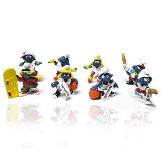 Olympic Smurfs 8 pcs cute toy figure set lot #3