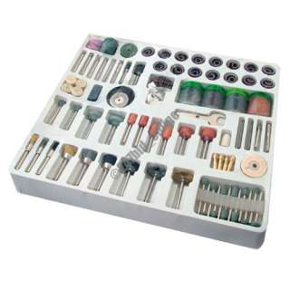 216PC MINI ROTARY POWER DRILL HOBBY TOOL ACCESSORY KIT