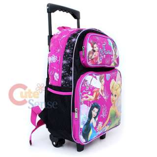 Disney Tinkerbell Fairies School Roller Backpack Rolling Bag 3