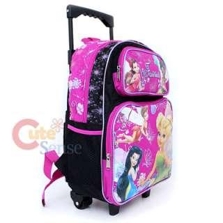 Disney Tinkerbell Fairies School Roller Backpack Rolling Bag 3
