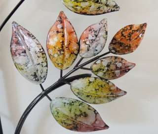 Contemporary Metal Wall Art   Marble Leaf Tree Branch