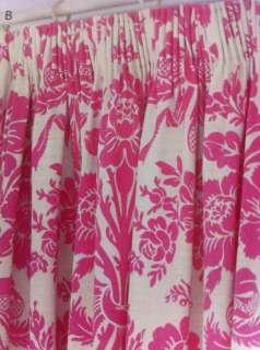 LAURA ASHLEY Pencil Pleat Curtains TATTON CERISE Damask Pink Girls