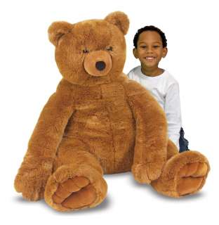 Melissa and Doug Stuffed Jumbo Brown Teddy Bear Plush